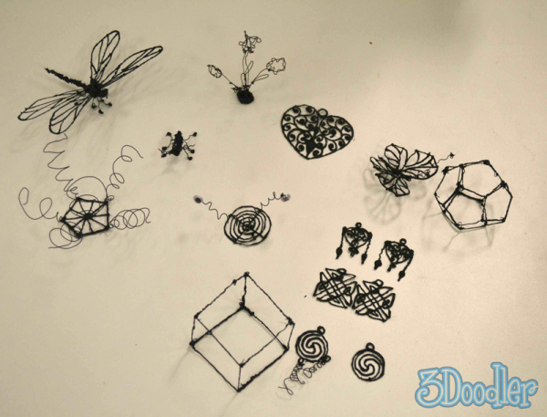 Объемные фигуры, нарисованные Дудлером