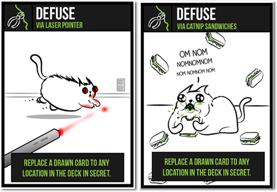 defuse cards